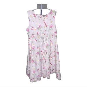 Laura Ashley Girls Pink Sleeveless Floral Dress 5